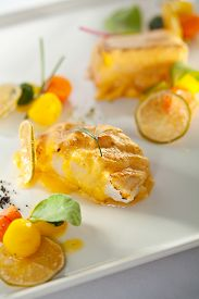 pic of halibut  - Salmon and Halibut Fillet with Citrus Mix - JPG