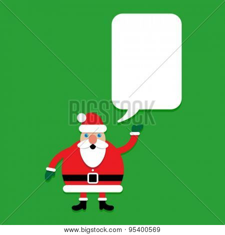 Santa Claus Character with talking bubble template
