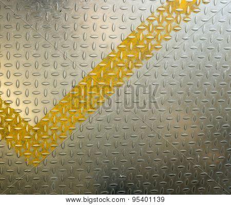 Pattern diamond metal plate background