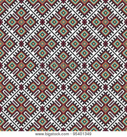 seamless embroidered good like handmade cross-stitch ethnic Ukraine pattern