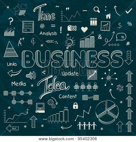 A big set of various business infographic elements for professional reports and presentation.