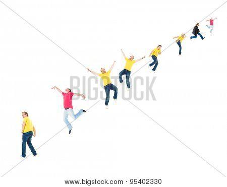 Big Group Together we Stand