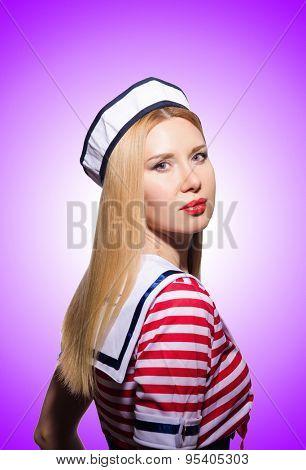 Woman in sailor costume  - marine concept