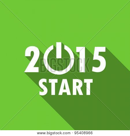 new year 2015 flat icon new years symbol original modern design green flat icon for web and mobile app with long shadow