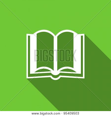 book flat icon  original modern design flat icon for web and mobile app with long shadow