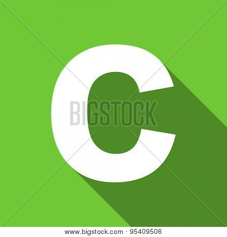 copyright flat icon  original modern design flat icon for web and mobile app with long shadow