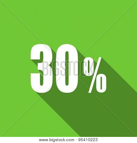 30 percent flat icon sale sign original modern design flat icon for web and mobile app with long shadow