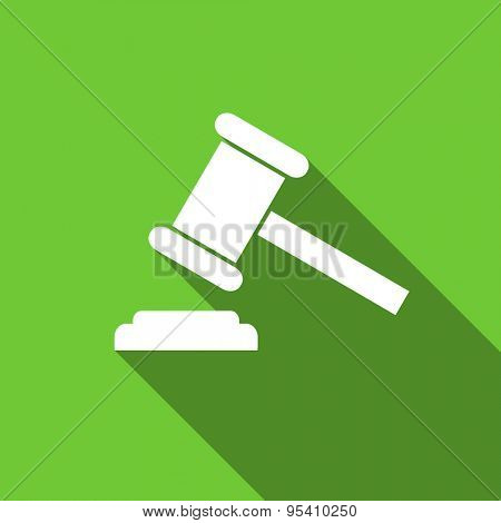 auction flat icon court sign verdict symbol original modern design flat icon for web and mobile app with long shadow
