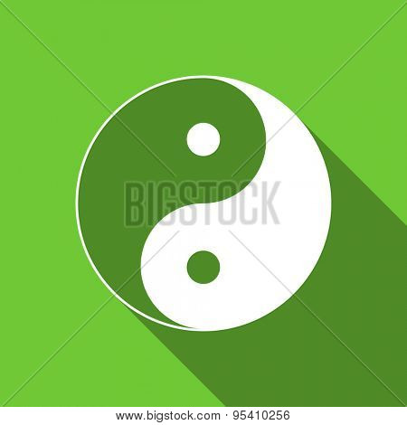 ying yang flat icon  original modern design flat icon for web and mobile app with long shadow