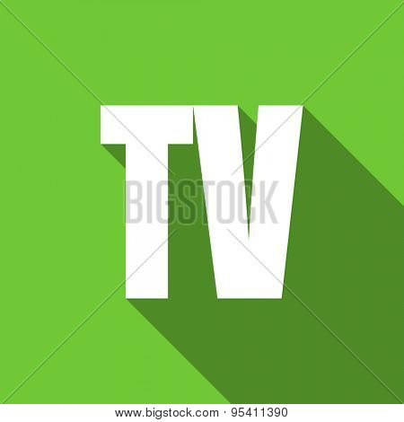 tv flat icon television sign original modern design flat icon for web and mobile app with long shadow