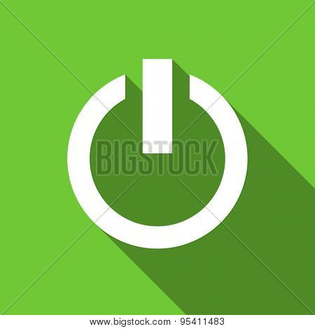 power flat icon on off sign original modern design flat icon for web and mobile app with long shadow