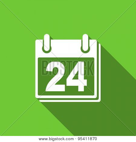 calendar flat icon organizer sign agenda symbol original modern design flat icon for web and mobile app with long shadow
