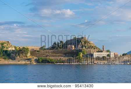 Hellenic  old castle at Corfu island