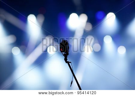 Small camera and stage lights