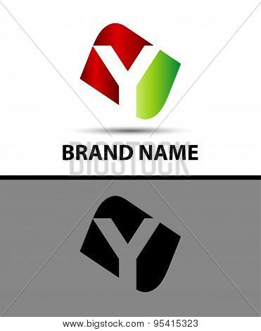Vector illustration of abstract icons based on the letter y
