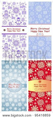 Winter greeting labels