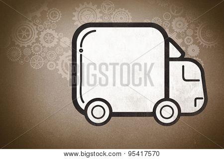 lorry against grey