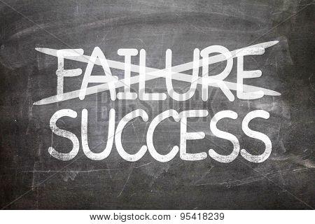 Failure Success written on a chalkboard