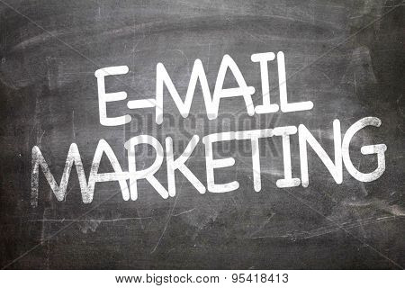 E-mail Marketing written on a chalkboard