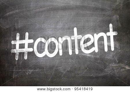 #content written on a chalkboard