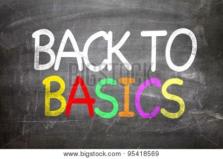 Back to Basics written on a chalkboard