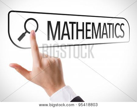 Mathematics written in search bar on virtual screen