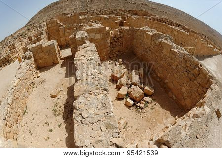 Fisheye view of archaeological excavations