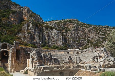 Ancient town in Myra Turkey - archeology background