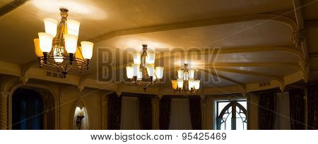 Three chandeliers