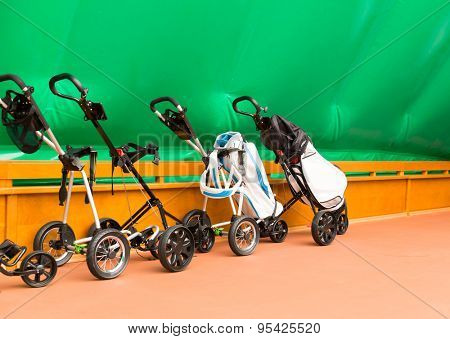 Trolleys for tennis