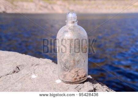 Old Dirty Vintage Gass Bottle