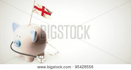 Digitally generated england national flag against white background with vignette