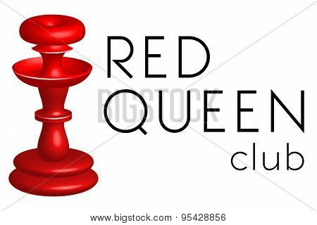 Logo template, vector, red queen, club or pub