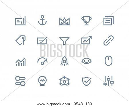Search engine optimization icons. Line series