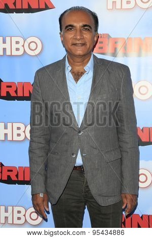LOS ANGELES - JUN 8: Iqbal Theba at the Premiere of HBO's 'The Brink' at the Paramount Theater at Paramount Studios on June 8, 2015 in Los Angeles, CA