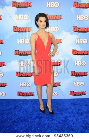 LOS ANGELES - JUN 8: Jaimie Alexander at the Premiere of HBO's 'The Brink' at the Paramount Theater at Paramount Studios on June 8, 2015 in Los Angeles, CA