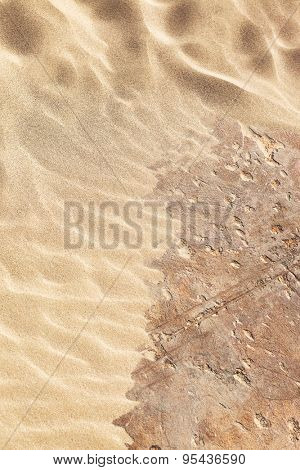 sand and stone as background