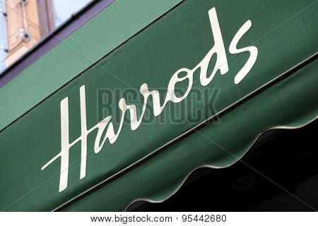 Harrods Department Store Entrance Canopy