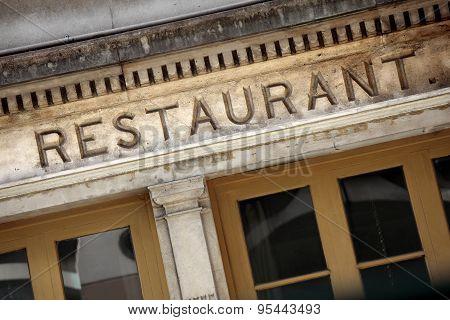 Old Stone Restaurant Facade