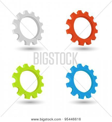 gears cogwheel icon 3d design