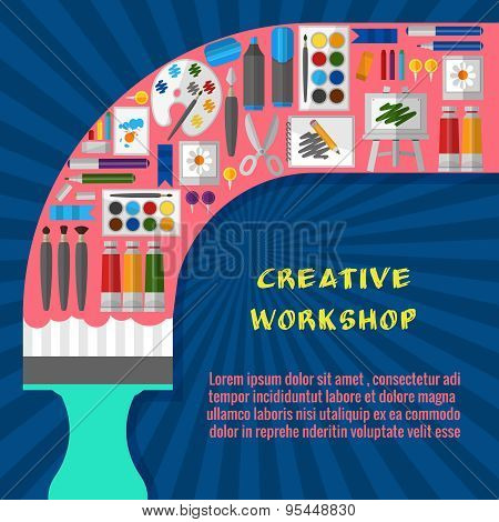 Creative workshop poster template