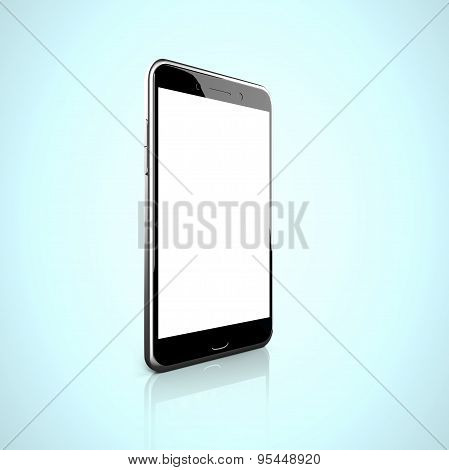 Smart Phone With Blank White Touchscreen