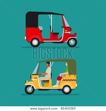 Asian auto rickshaw taxi