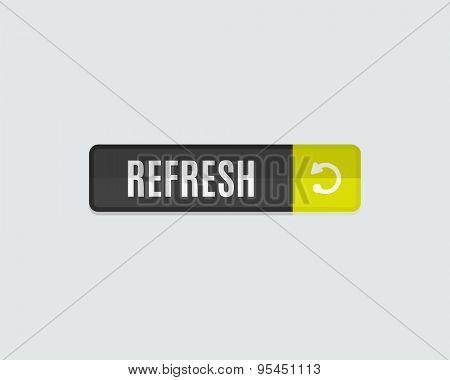 Refresh web button. Modern flat design, paper graphic, website icon and design element