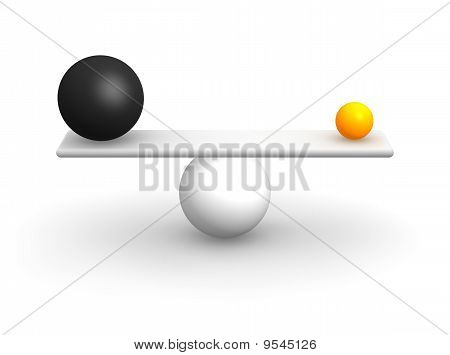 Ongelijke ballen in evenwicht