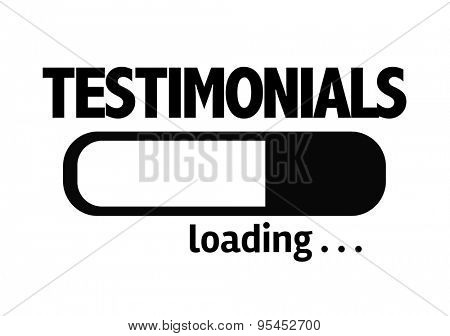 Progress Bar Loading with the text: Testimonials