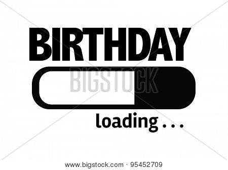 Progress Bar Loading with the text: Birthday