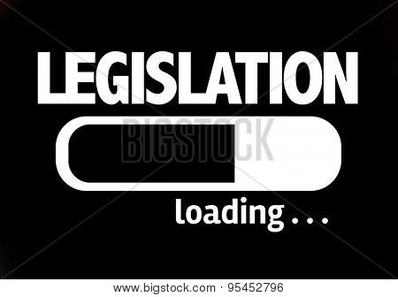 Progress Bar Loading with the text: Legislation