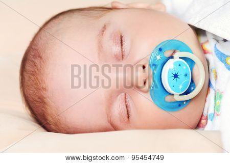 Portrait of a sleeping sweet baby.