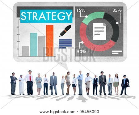 Strategy Business Plan Analysing Data Critical Thinking Concept